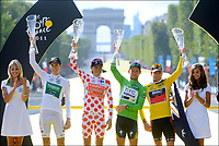 Sykkel<br /> Tour de France <br /> 24.07.2011<br /> Foto: PhotoNews/Digitalsport<br /> NORWAY ONLY<br /> <br /> 21th stage / Creteil - Paris Champs-Elysees<br /> <br /> ROLLAND Pierre (TEAM EUROPCAR - FRA) - SANCHEZ Samuel (EUSKALTEL - EUSKADI - ESP) - EVANS Cadel (BMC RACING TEAM - AUS) - CAVENDISH Mark (HTC - HIGHROAD - GBR)
