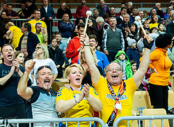 Supporters of Sixt Primorska during basketball match between KK Sixt Primorska and KK Hopsi Polzela in final of Spar Cup 2018/19, on February 17, 2019 in Arena Bonifika, Koper / Capodistria, Slovenia. Photo by Vid Ponikvar / Sportida