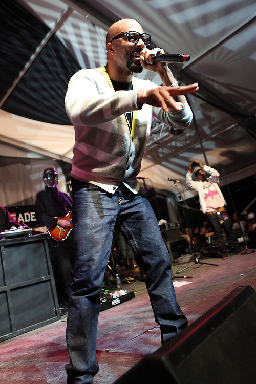 "AUSTIN, TX - MARCH 21:  Rapper Common performs onstage at the ""G.O.O.D Music Showcase"" at Levi's/Fader Fort on March 21, 2009 in Austin, Texas."