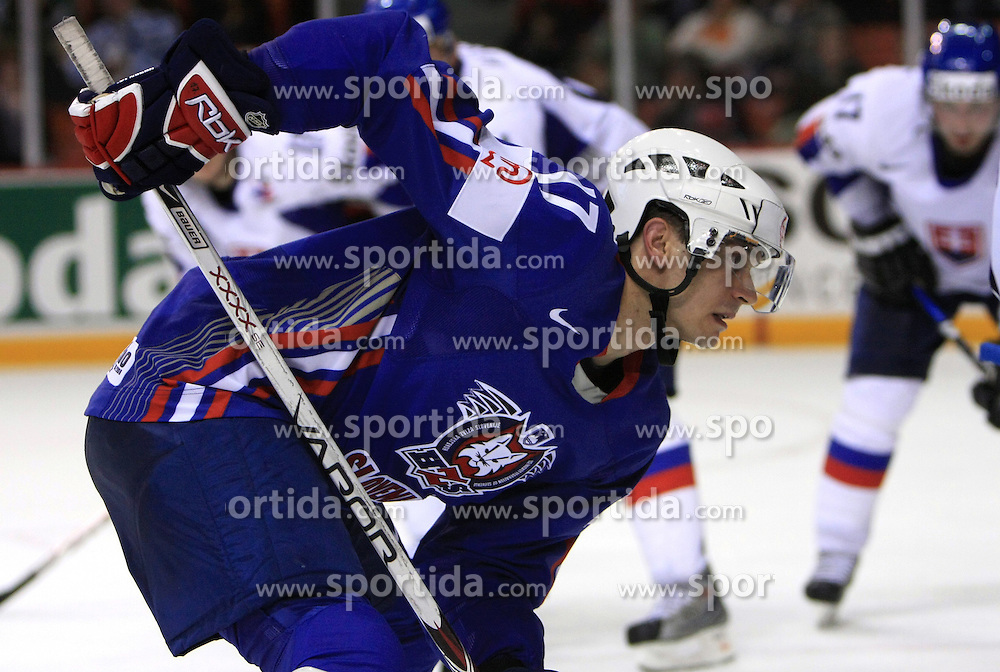 Jurij Golicic of Slovenia at ice-hockey game Slovenia vs Slovakia at second game in  Relegation  Round (group G) of IIHF WC 2008 in Halifax, on May 10, 2008 in Metro Center, Halifax, Nova Scotia, Canada. Slovakia won after penalty shots 4:3.  (Photo by Vid Ponikvar / Sportal Images)