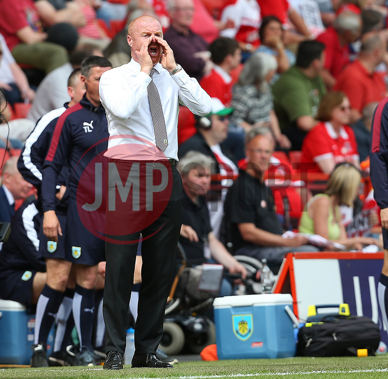 Burnley Manager Sean Dyche - Mandatory by-line: Paul Terry/JMP - 07/05/2016 - FOOTBALL - The Valley - London, England - Charlton Athletic v Burnley - Sky Bet Championship