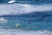Oahu. Surfing at Makapu'u Beach Park.