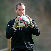 St Johnstone Training.....02.03.12<br /> Keeper Alan Mannus pictured during training this morning..<br /> Picture by Graeme Hart.<br /> Copyright Perthshire Picture Agency<br /> Tel: 01738 623350  Mobile: 07990 594431