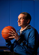 Duke Head Basketball Coach Mike Krzyzewski in the Duke practice facility in Durham, North Carolina on Monday, Jan. 24, 2011.  ©2011 Robert Seale