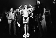 Aboriginalrugby star turned boxer Anthony 'Choc'  Mundine weighs for his first professional fight at Sydney's Entertainment Centre..©David Dare Parker/Network Photographers