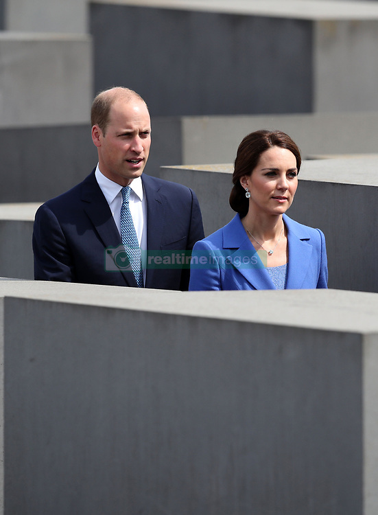 The Duke and Duchess of Cambridge during a visit to the Holocaust Memorial in Berlin on the first day of their three-day tour of Germany.