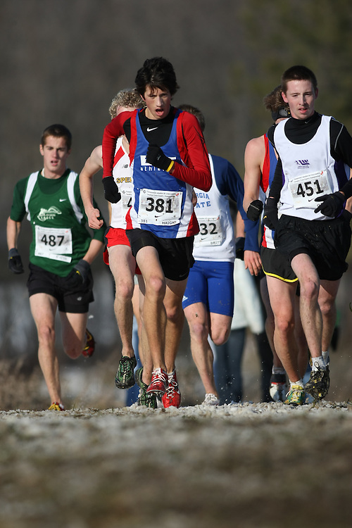Guelph, Ontario ---29/11/08---  DYLAN T HAIGHT competes in the junior mens race at the 2008 AGSI Canadian Cross Country Championships in Guelph, Ontario, November 29, 2008..Sean Burges Mundo Sport Images