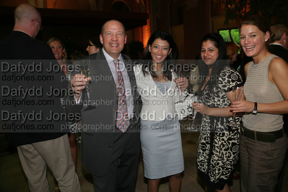 Anahita Resort launch party. Wallace Collection. London. 12 September 2007. ( Photo by Dafydd Jones)  Andre Pierre Marais;Mallika Basu -DO NOT ARCHIVE-© Copyright Photograph by Dafydd Jones. 248 Clapham Rd. London SW9 0PZ. Tel 0207 820 0771. www.dafjones.com.