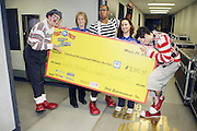 Feld Entertainment check presentation to The American Millitary Services at the 139th Annual Ringling Brothers and Barnum & Bailey Circus opens their 139th Season on March 26, 2009 held at Madison Square Garden  in New York City.