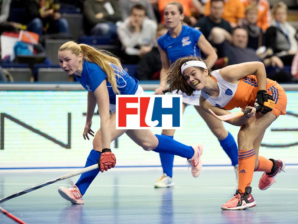BERLIN - Indoor Hockey World Cup<br /> Quarterfinal 4: Netherlands - Czech Republic<br /> foto: Noor de Baat shoots.<br /> WORLDSPORTPICS COPYRIGHT FRANK UIJLENBROEK