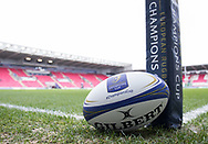 A general view of Parc Y Scarlets, home of Scarlets match ball<br /> <br /> Photographer Simon King/Replay Images<br /> <br /> EPCR Champions Cup Round 3 - Scarlets v Benetton Rugby - Saturday 9th December 2017 - Parc y Scarlets - Llanelli<br /> <br /> World Copyright © 2017 Replay Images. All rights reserved. info@replayimages.co.uk - www.replayimages.co.uk