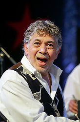 30 April 2015. New Orleans, Louisiana.<br /> The New Orleans Jazz and Heritage Festival. <br /> Monty Alexander; Harlem-Kingston Express. <br /> Photo; Charlie Varley/varleypix.com