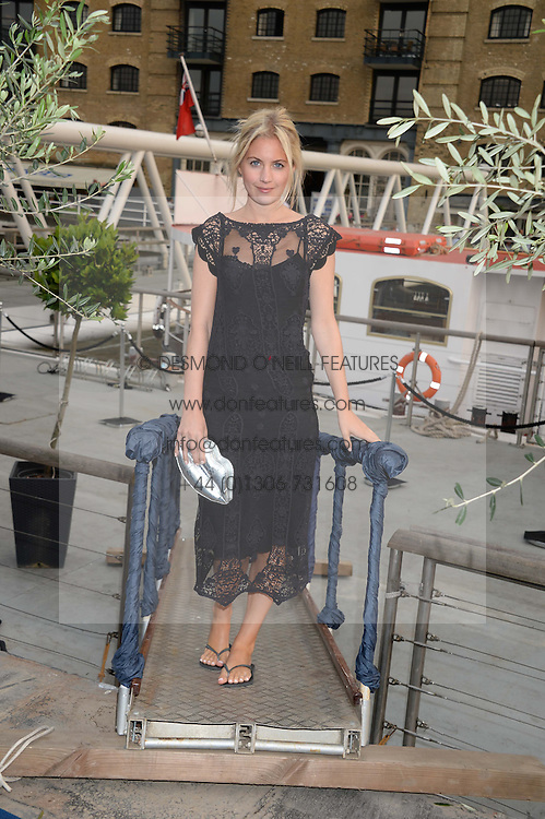 The Johnnie Walker Blue Label and David Gandy Drinks Reception aboard John Walker & Sons Voyager, St.Georges Stairs Tier, Butler's Wharf Pier, London, UK on 16th July 2013.<br /> Picture Shows:-Marissa Montgomery.