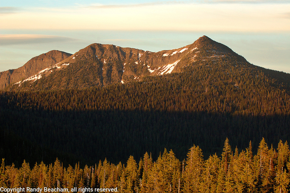 Northwest Peak Scenic Area at sunset. Purcell Mountains, northwest Montana.