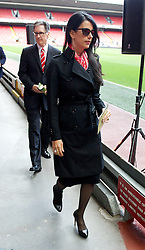 15.04.2013, Anfield Road, Liverpool, ENG, PL, Liverpool FC, 24. Jahrestag der Hillsborough Katastrophe, im Bild Partner of Liverpool's owner Linda Pizzuti during the 24th Anniversary Hillsborough Service at Anfield, Liverpool, United Kingdom on 2013/04/15. EXPA Pictures © 2013, PhotoCredit: EXPA/ Propagandaphoto/ David Rawcliffe..***** ATTENTION - OUT OF ENG, GBR, UK *****