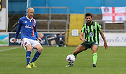 George Francomb during the Sky Bet League 2 match between Carlisle United and AFC Wimbledon at Brunton Park, Carlisle, England on 22 August 2015. Photo by Stuart Butcher.