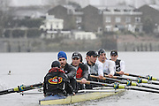 London. UNITED KINGDOM.  Oxford University BC vs German Crew. Varsity Fixture before the 159th BNY Mellon Boat Race on the Championship Course, River Thames, Putney/Mortlake.  Sunday  17/03/2013    [Mandatory Credit. Intersport Images],  Germany from Bow, Toni Seifert 2012 M4-, Felix Wimberger 2012 U23 M8+, Maximilian Reinelt 2012 M8+, Felix Drahotta 2012 M2-, Anton Braun 2012 M2-, Kristof Wilke 2012 M8+, Richard Schmidt 2012 M8+, Eric Johannesen 2012 M8+ and Cox Martin Sauer 2012 M8+..Germany approaching Hammersmith Bridge