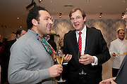 MARINO ROBERTO; ROBERT BROOKS;- Bonhams Auction house hosts festive drinks to preview the first phase of the reconstruction of its Mayfair Headquarters - due for completion in 2013.<br /> Bonhams, 101 New Bond Street, London, 19 December 2011.