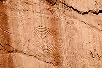 Arch Canyon petroglyphs, spirals; Cedar Mesa, UT