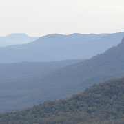 Ridges of the Blue Mountains as seen from Echo Point in Katoomba, New South Wales, Australia.