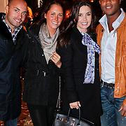 NLD/Amsterdam/20110203 - Talkies Night 2011, Demy de Zeeuw en partner Danielle Slof, Patrick Kluivert en partner Rosanna Lima