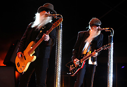 May 29, 2018 - West Palm Beach, Florida, U.S. - 042910 WEST PALM BEACH - ZZ Top performs at SunFest on Thursday. (Bruce R. Bennett/The Palm Beach Post) SCR 2714 (Credit Image: © Handout/The Palm Beach Post via ZUMA Wire)