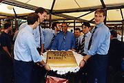 Incontro con D'Alema 1999<br /> alessandro de pol, carlton myers, davide bonora, andrea meneghin, denis marconato, claudio silvestri