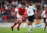 Photo: Rich Eaton.<br /> <br /> Wrexham v Hereford United. Coca Cola League 2. 24/09/2006. Danny Williams left of Wrexham and Tim Sills of Hereford