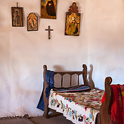 A scene from the living history museum El Rancho de las Golondrinas, Santa Fe, New Mexico