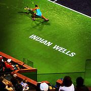 March 3, 2014, Indian Wells, California: <br /> Fans watch a match between Barbora Zahlavova Strycova and Grace Min on Stadium 2 at the Indian Wells Tennis Garden. <br /> (Photo by Billie Weiss/BNP Paribas Open)