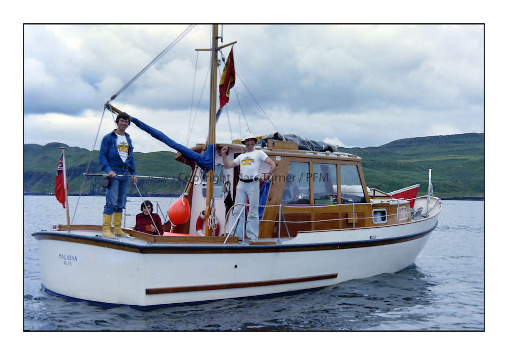 Historic Scottish Series Images 1975<br /> <br /> Committee members on Malaran RCYC<br /> <br /> Picture Copyright  PFM Pictures