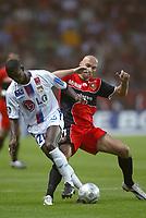Fotball<br /> Frankrike 2004/05<br /> Rennes v Lyon<br /> 11. september 2004<br /> Foto: Digitalsport<br /> NORWAY ONLY<br />  ERIC ABIDAL (LYON) / IVICA MORNAR (REN)