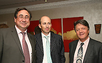 Jon Webster MMF CEO, Peter Leathem and Fran Nevrkla CEO PPL
