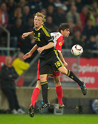 UTRECHT, THE NETHERLANDS - Thursday, September 30, 2010: Liverpool's Dirk Kuyt in action against FC Utrecht during the UEFA Europa League Group K match at the Stadion Galgenwaard. (Photo by David Rawcliffe/Propaganda)