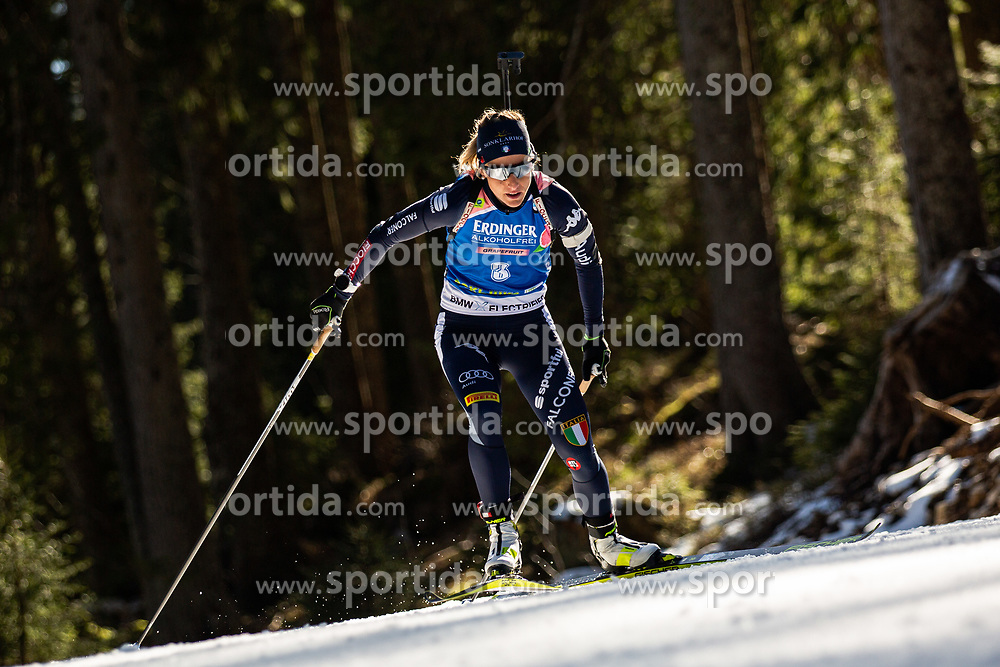 Federica Sanfilippo (ITA) during the Women 15 km Individual Competition at day 2 of IBU Biathlon World Cup 2019/20 Pokljuka, on January 23, 2020 in Rudno polje, Pokljuka, Pokljuka, Slovenia. Photo by Peter Podobnik / Sportida