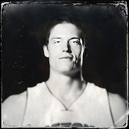Sep 29, 2014; Auburn Hills, MI, USA;  (Editor's Note: Photo was post-processed creating a digital tintype) Detroit Pistons center Jonas Jerebko (33) during media day at the Pistons practice facility. Mandatory Credit: Rick Osentoski-USA TODAY Sports