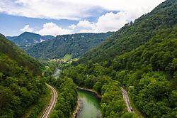 Peloton near Litija during 1st Stage of 26th Tour of Slovenia 2019 cycling race between Ljubljana and Rogaska Slatina (171 km), on June 19, 2019 in  Slovenia. Photo by Matic Klansek Velej / Sportida
