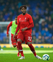 LIVERPOOL, ENGLAND - Sunday, March 3, 2019: Liverpool's Divock Origi during the pre-match warm-up before the FA Premier League match between Everton FC and Liverpool FC, the 233rd Merseyside Derby, at Goodison Park. (Pic by Paul Greenwood/Propaganda)