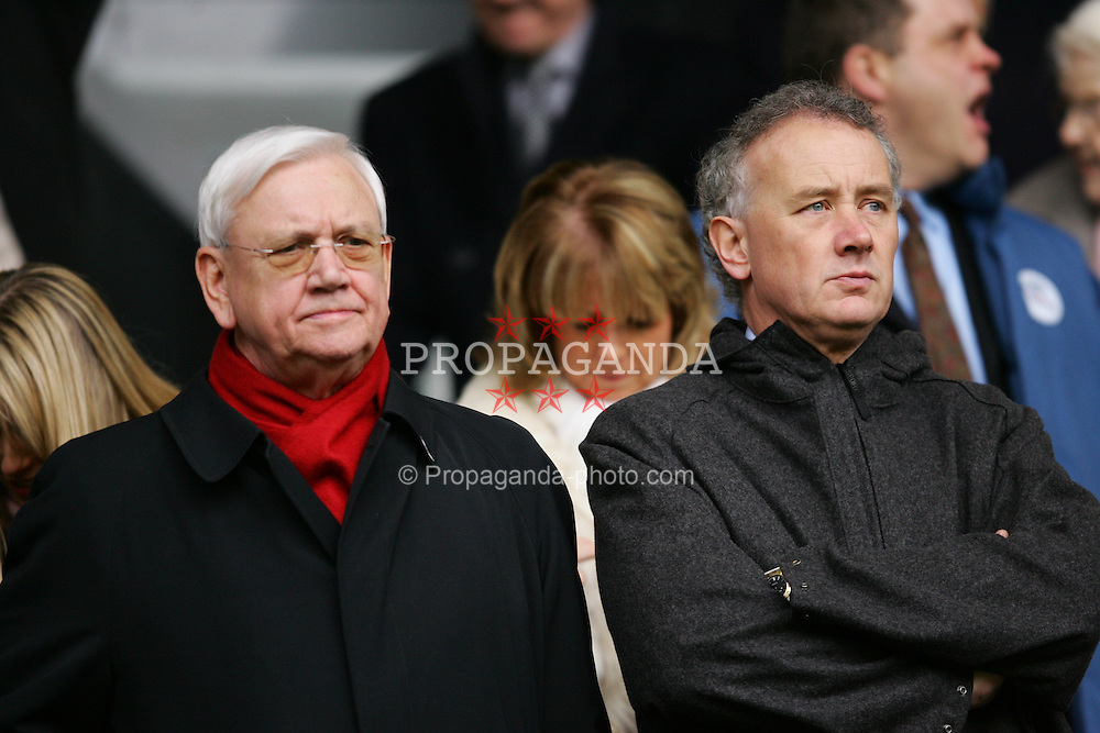 LIVERPOOL, ENGLAND - SATURDAY FEBRUARY 5th 2005: Liverpool's Chief-Executive Rick Parry (R) and director Noel White (R) during the Premiership match at Anfield. (Pic by David Rawcliffe/Propaganda)