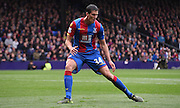 Martin Kelly watches the West Ham attack during the Barclays Premier League match between Crystal Palace and West Ham United at Selhurst Park, London, England on 17 October 2015. Photo by Michael Hulf.