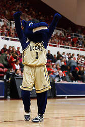 March 19, 2011; Stanford, CA, USA;  The UC Davis Aggies mascot performs during the first half of the first round of the 2011 NCAA women's basketball tournament against the Stanford Cardinal at Maples Pavilion.