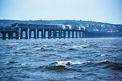 The Tay Rail Bridge over the River Tay, Dundee.