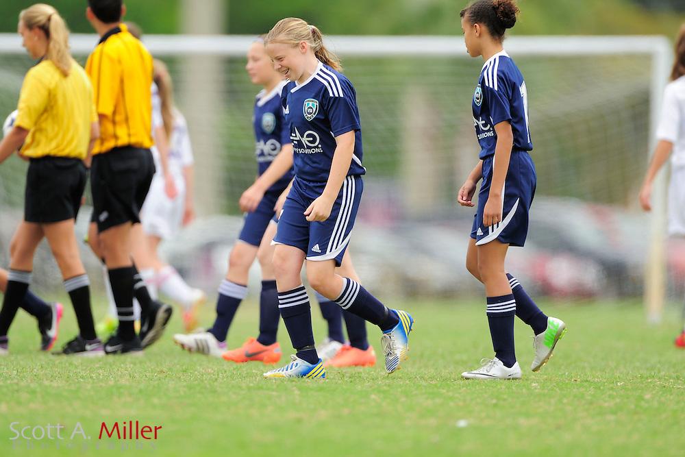 VSI U13 girls vs. OCYS in CDL at Seminole Soccer Complex in Sanford, Florida April 20, 2013. .©2013 Scott A. Miller