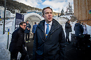 President of the World Economic Forum, Børge Brende, outside the WEF Forum in Davos during the WEF week.