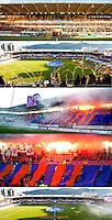 Tifo fra kampen mellom AaFK og Lillestrøm på Color Line Stadion.<br /> Foto: Svein Ove Ekornesvåg