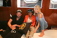 ANTIBES, FRANCE - OCTOBER 16:  James Newman, Tayla Parx and Molly King attend the Recording sessions at the Cross Creative lounge aboard the Bliss Yacht as part of Songwriting Invitational Group event on October 16, 2015 in Antibes, France.  (Photo by Tony Barson/Getty Images for The Invitational Group)