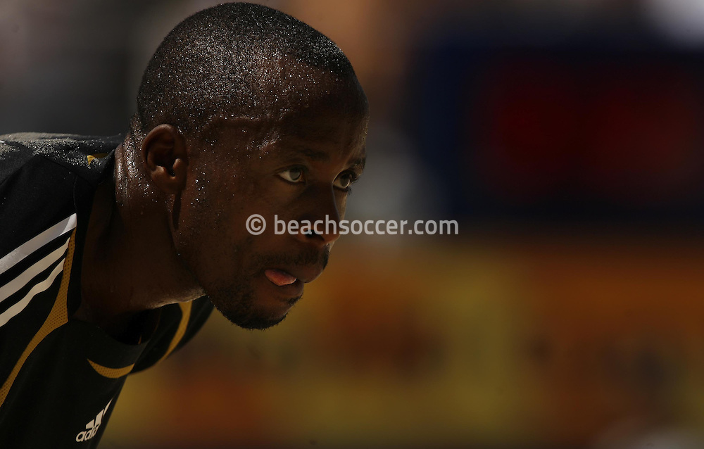 Football-FIFA Beach Soccer World Cup 2006 - Group D- Nigeria - Bahrain, Beachsoccer World Cup 2006. Nigeria's Isa   - Rio de Janeiro - Brazil 06/11/2006. Mandatory credit: FIFA/ Manuel Queimadelos