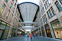 View of new Mall of Berlin shopping mall in Potsdamer Platz Berlin Germany