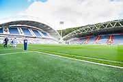 A general view of John Smith's Stadium before the EFL Sky Bet Championship match between Huddersfield Town and Derby County at the John Smiths Stadium, Huddersfield, England on 5 August 2019.