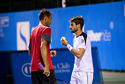 Lukas Rosol (CZE) and Gerard Granollers (ESP) playing doubles Semifinal during Day 7 at ATP Challenger Zavarovalnica Sava Slovenia Open 2018, on August 9, 2018 in Sports centre, Portoroz/Portorose, Slovenia. Photo by Vid Ponikvar / Sportida